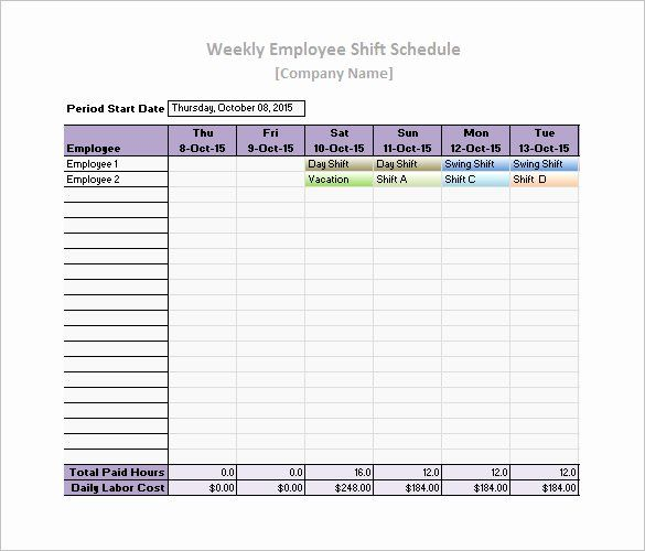 Free Printable Employee Schedule Inspirational Work Schedule