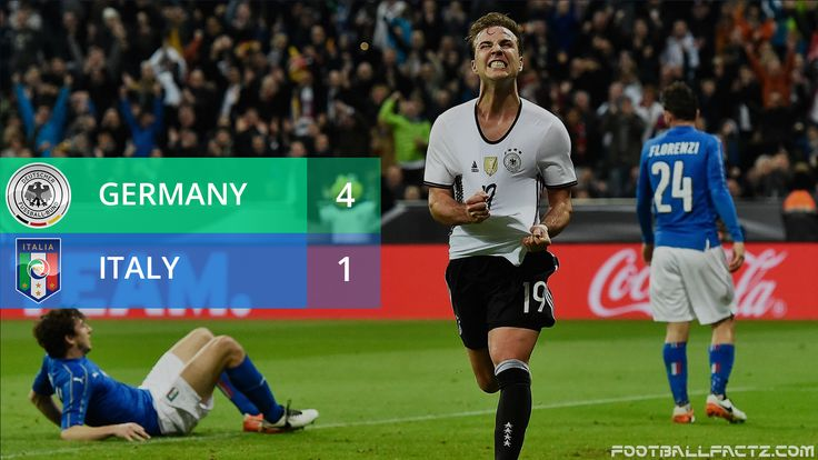 #germany vs #italy footballfactz.com