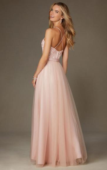 Sale Light Pink Bridesmaid Dress BNNCL0008-Bridesmaid UK