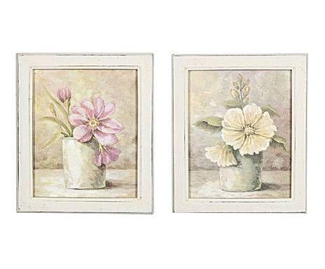 Tavola country set di 2 quadri decorativi su legno for Dalani quadri