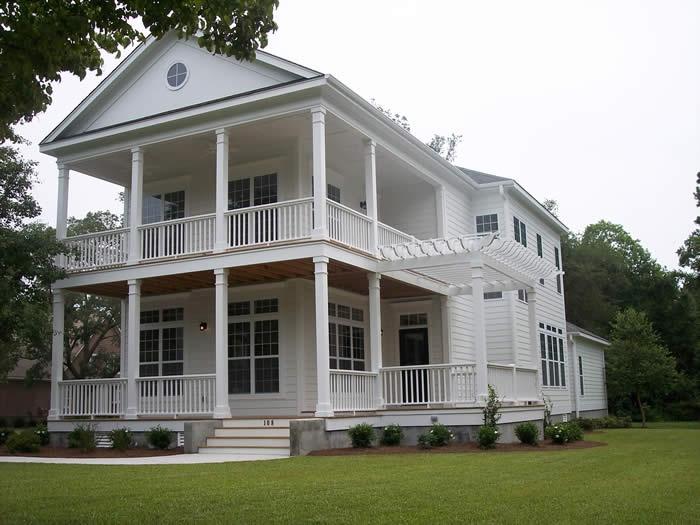 90 best s w custom home gallery images on pinterest for Charleston side house plans