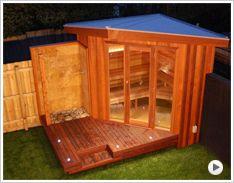 Custom designed and built outdoor sauna