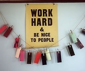 Inspirational Message: Work Hard And Be Nice To People