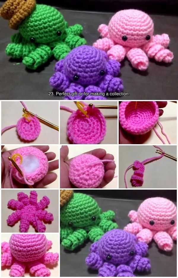 How To Crochet a Mini Amigurumi Octopus | UsefulDIY.com