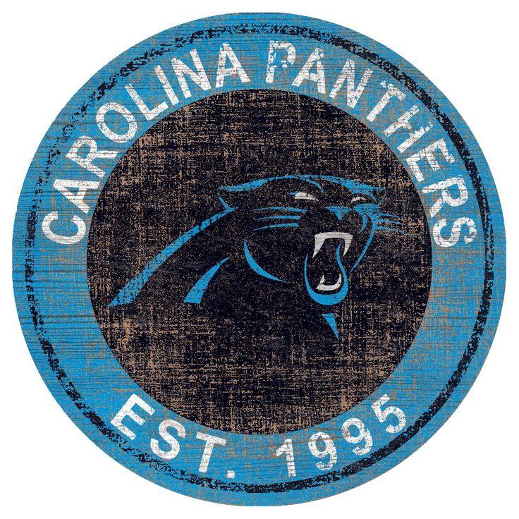 NFL Carolina Panthers Heritage Logo 24 Round Sign