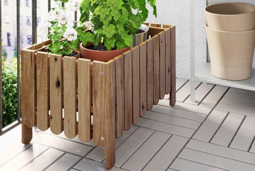 Piedistallo per piante con portavasi in terracotta e acciaio galvanizzato – IKEA