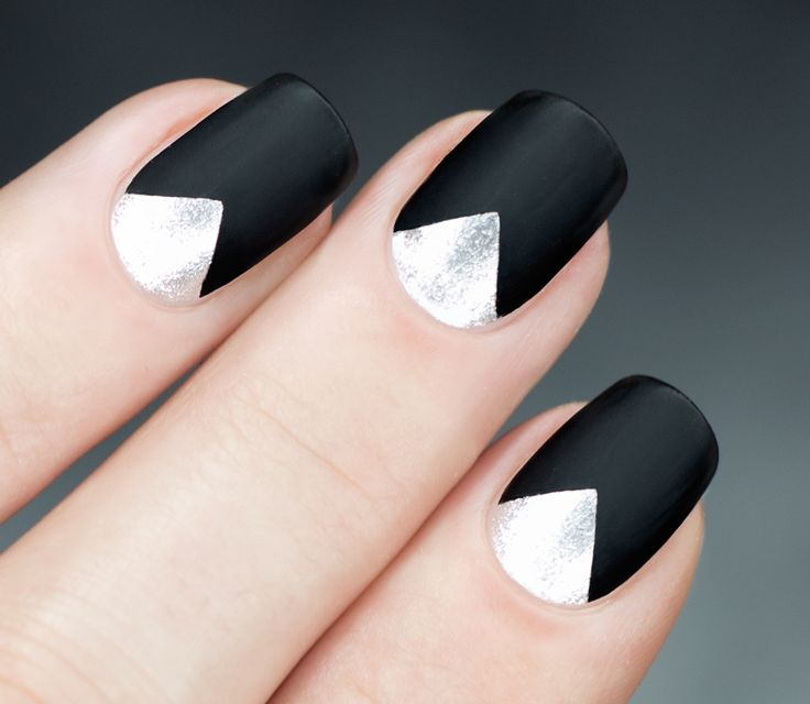 A chevron reverse French Manicure takes this look up a notch even further!