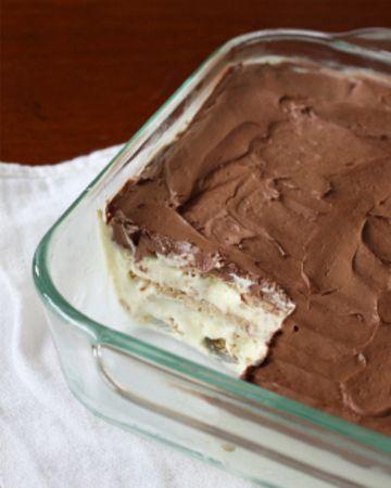 No bake Icebox cake..Chocolate Eclair cake Recipe. Easy to make low fat.