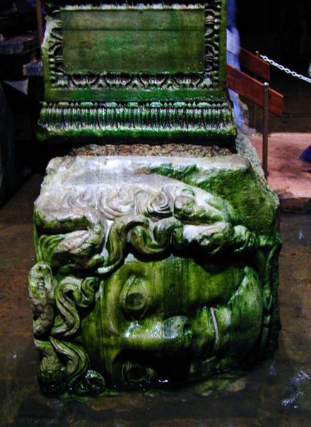 12- Méduse du temple de didymes réemployé dans la citerne basilique
