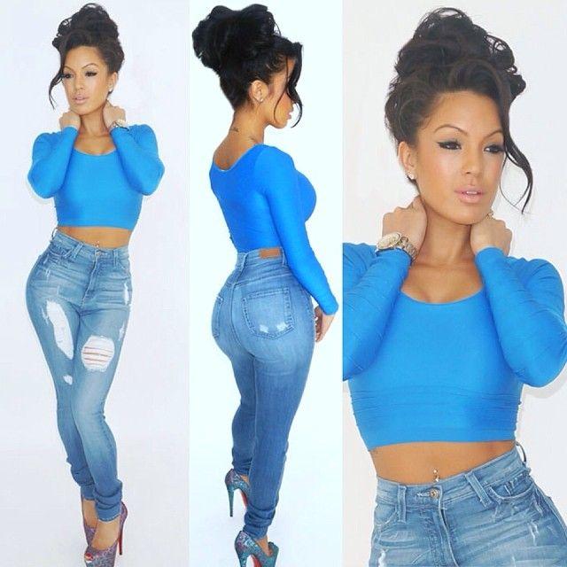 Cute blue jean outfit