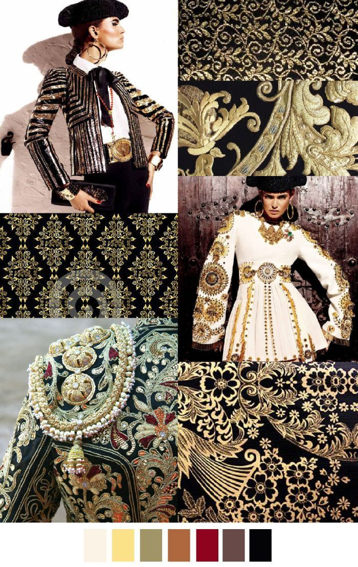 F/W 2016-17 pattern + colors trends: baroque style
