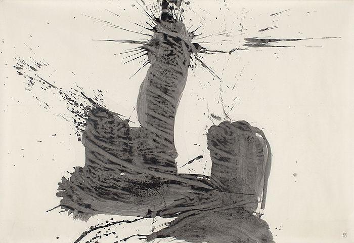 YU-ICHI, yama (mountian), 1966, ink on paper, 146 x 215 cm, Catalogue Raisonné Vol. I, # 66014