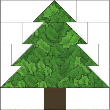 Christmas Tree Quilt Block Pattern http://quilting.about.com/od/blockofthemonth/ss/christmas_tree.htm