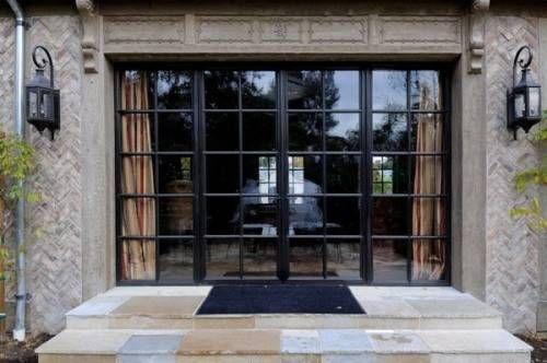 Black Glass Front Door  And French Doors Exterior Steel | Home Designs Wallpapers 28
