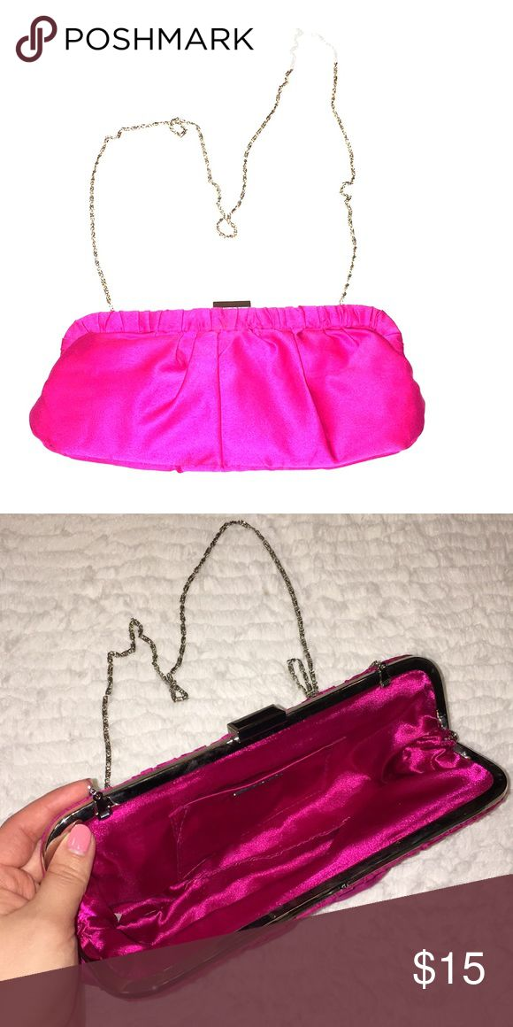 Pink Clutch Bag Clutch Bag with metal chain, can be put into the bag   Dimensions- 11 in x 5 in Call It Spring Bags Clutches & Wristlets