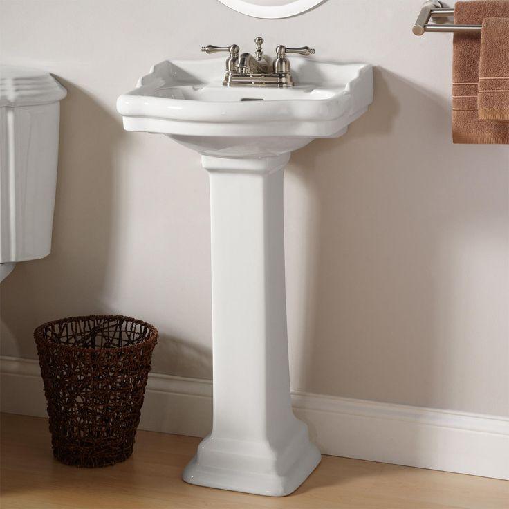 pedestal sink or vanity in small bathroom%0A Stanford Mini Pedestal Sink  Bathroom Sinks  Bathroom  D