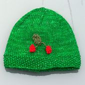 My Little Cherry Beanie baby knitting pattern