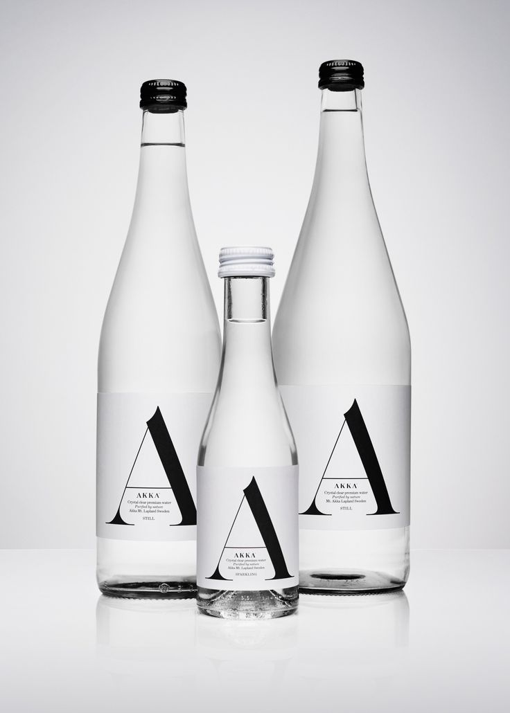 Akka water packaging design by Stockholm Design Lab.