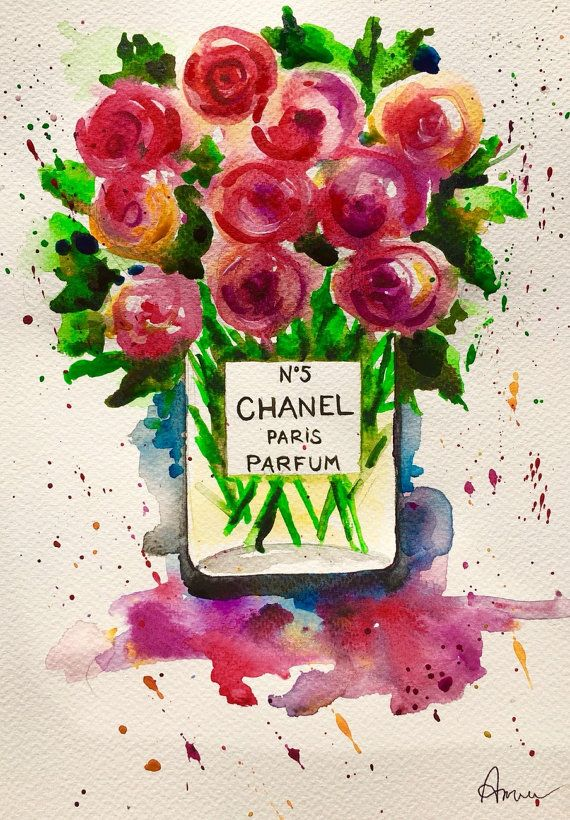 Chanel Fashion Original Art   Bouquet of Flowers by annafui