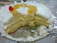 Bolo recheado de abacaxi e creme de côco: Creme De, Bolo De, Pineapple, Coconut, Revenue