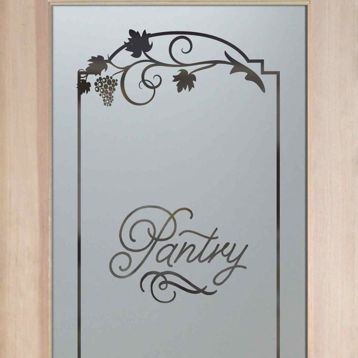 Grape Ivy Melany Pantry Door   Sandblasted Etched Glass Pantry Door By Sans  Soucie Art Glass