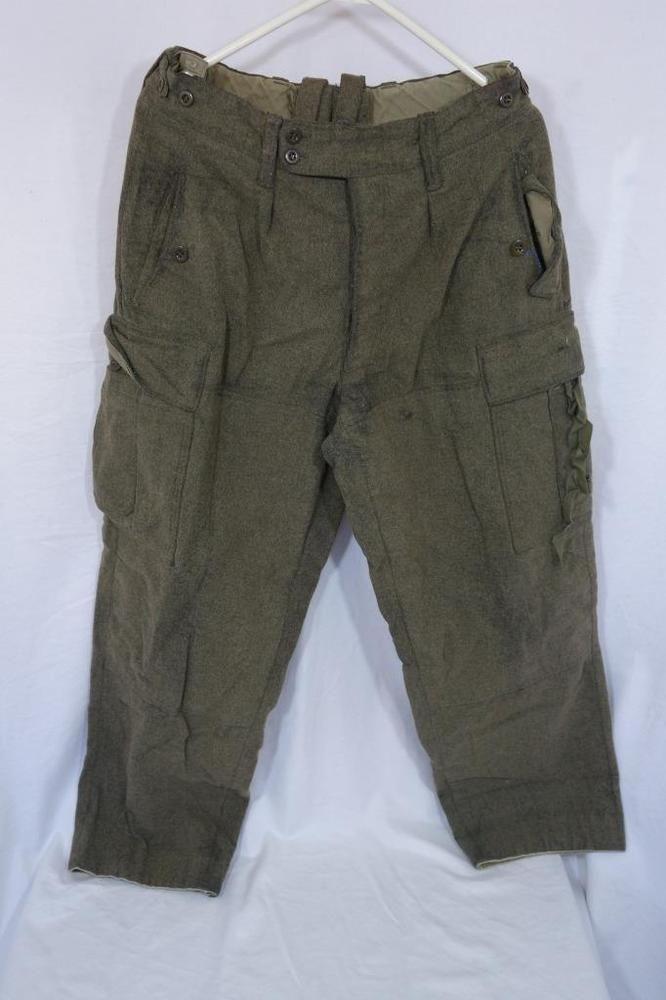Vintage Wool Military W Schwarz Huckelhoven German 1961 Mens Hunting Pants 33-L9 #Unbranded #Cargo