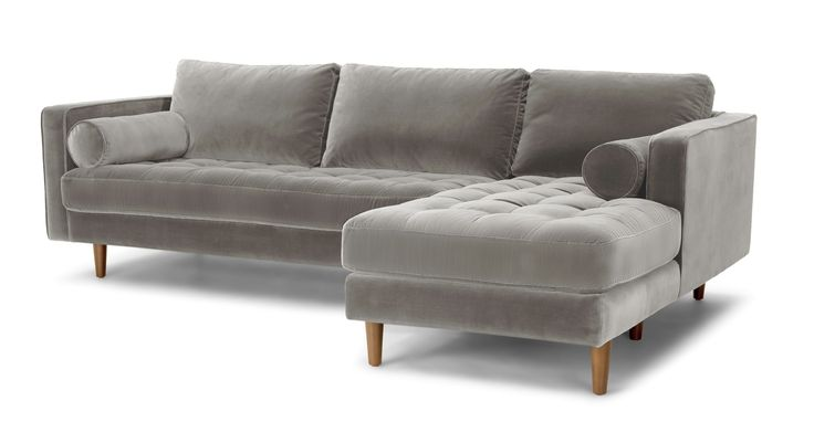 Sven Intuition Grey Right Sectional Sofa - Sectionals - Bryght | Modern, Mid-Century and Scandinavian Furniture