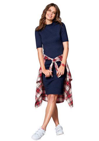 Žebrované šaty se stojáčkem #ModinoCZ
