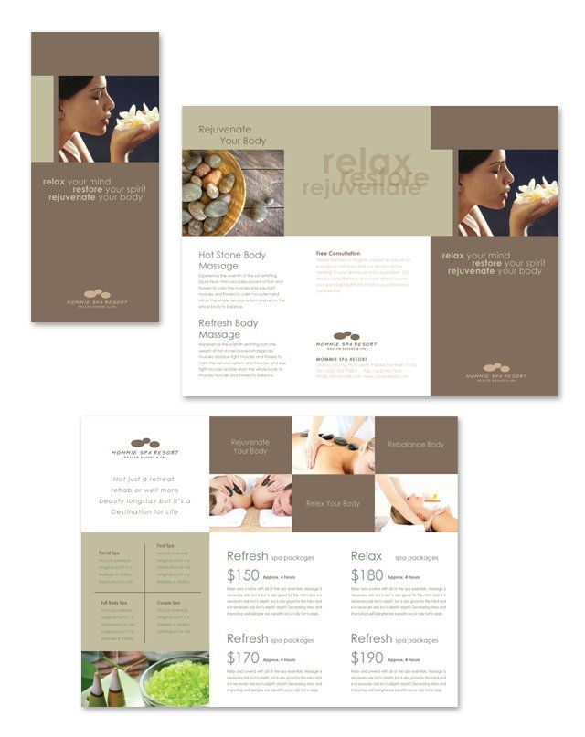 Best Spa Images On   Beauty Salons Brochure Template