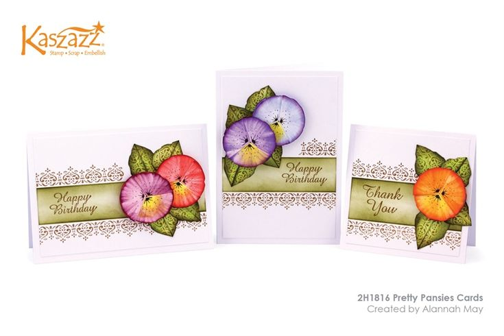 2H1816 Pretty Pansies Cards