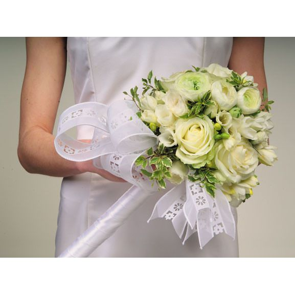 Wedding White Rose & Ranuculus Bouquet