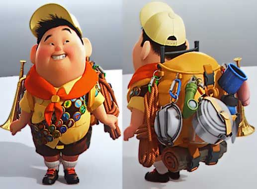 Russel from Up!! He's so cute lol