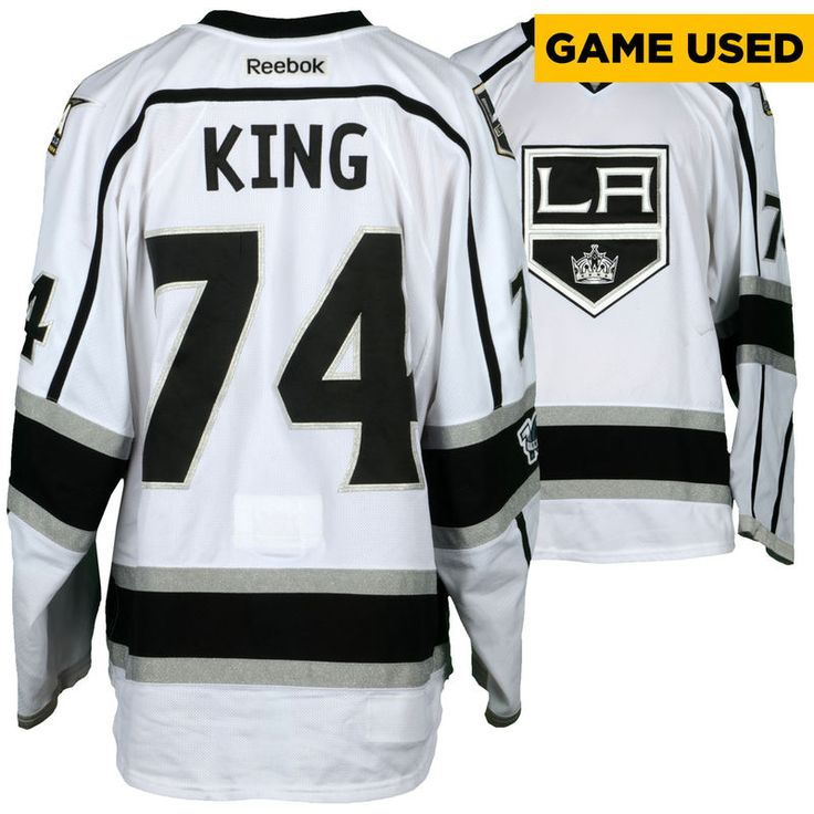 Dwight King Los Angeles Kings Fanatics Authentic Game-Used #74 White Jersey from the 2016-17 NHL Season
