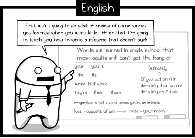 What we should have been taught in high school english - The Oatmeal: High Schools English, English Lessons, Pet Peeves, Senior Years, The Oatmeal, Funny, English Teacher, Learning, Grammar Lessons