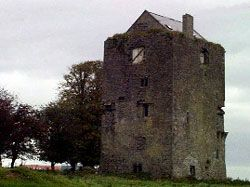 Galway, Tuam (5 miles S of Tuam) - Ballinderry Castle - Sheela na Gig over door. Seeking specific address/location.