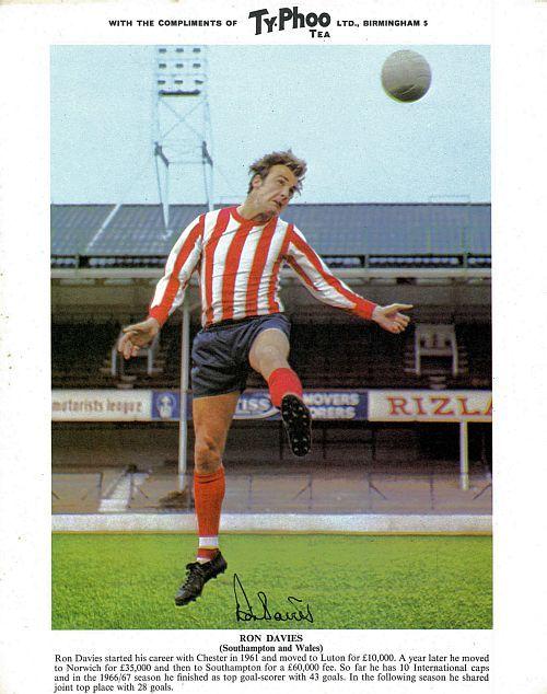 Ron Davies of Southampton in 1970.