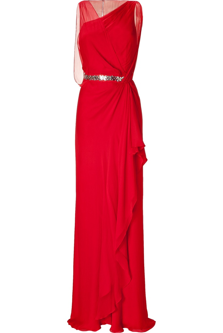 Red. ZsaZsa Bellagio.: Summer Dresses, Blood Red, Plays Dresses, Red Dresses, Red Carpets, Crystals Embroidered, Red Crystals, Smanci Dresses, Embroidered Waist
