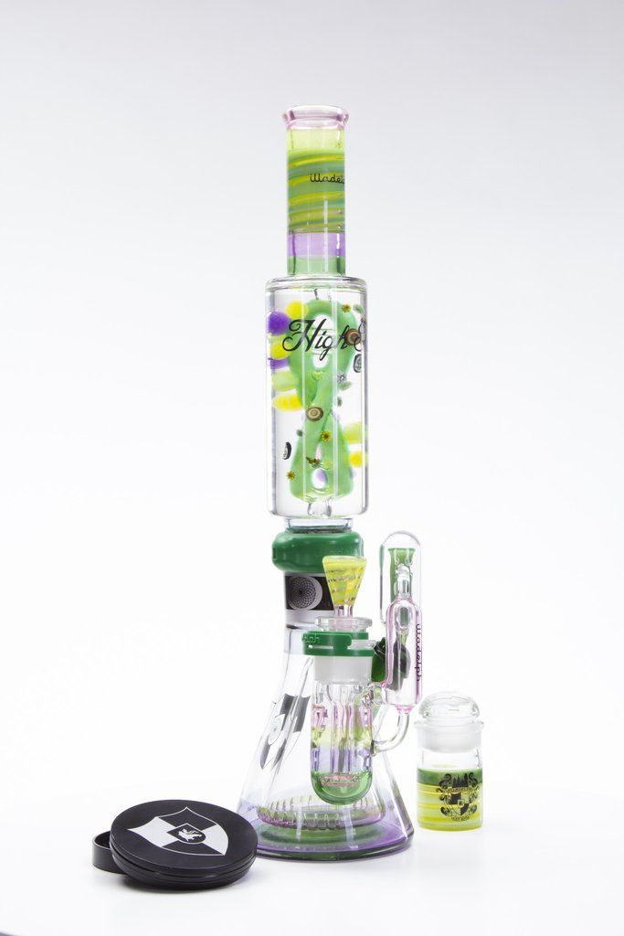 The Dabberscope Microscope Themed Rig with Slitted Rocket Perc