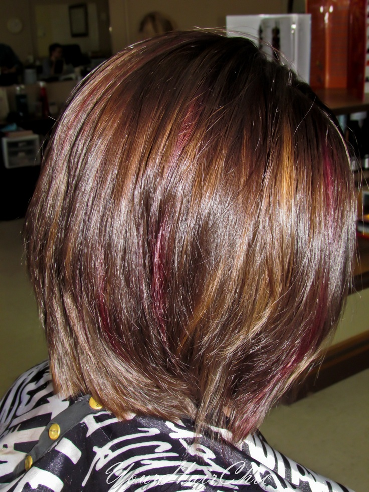 This A Chocolate Brown Base With Mahogany And Gold Peek A