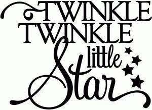 Twinkle Twinkle Little Star Vinyl Phrase Try On A Block