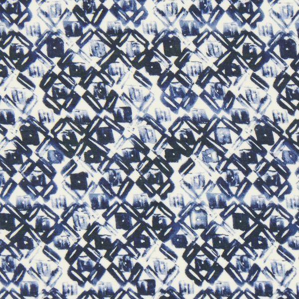 Batist Batik – blau