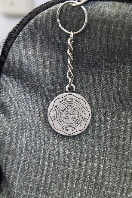 Pewter Keychain – Ohio University Seal