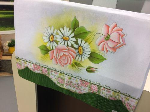 Arte Brasil | Pintura+Rosas+e+Margaridas - Thanyinha+Avila