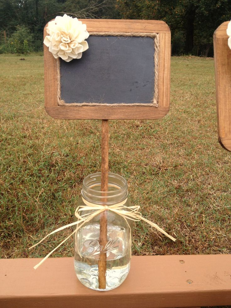 Here's use for those chalkboads DeeAnn! Rustic Wedding Chalkboard Sign - Rustic Wedding Decor - Wedding Table Number - Chalkboard Photo Prop. $10.00, via Etsy.
