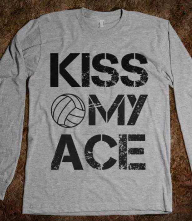 Kiss My Ace Pink Volleyball Long Sleeve Shirt My Mom Sleeve And