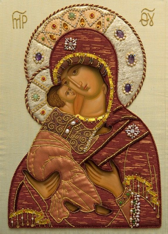 Wedding Icon of the Mother of God of Vladimir in Oklad - St Elisabeth Convent…