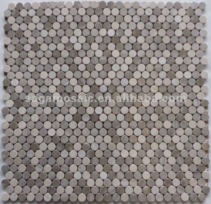 different greys mixed penny round stone mosaic tiles - Mosaic Tile Restaurant Ideas