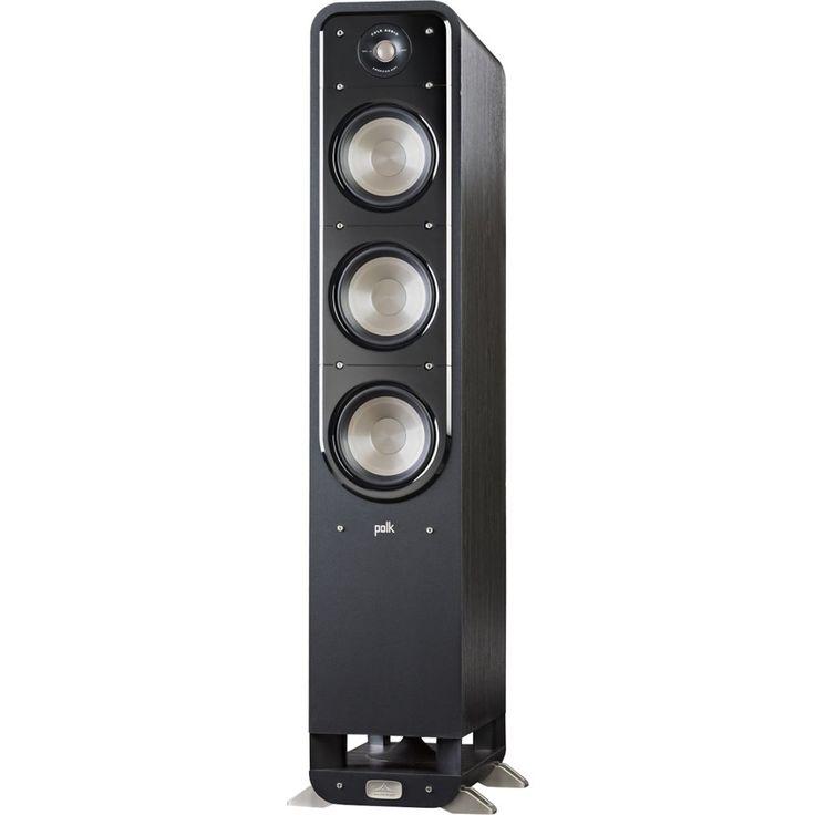 """Polk Audio - Signature Series S60 Hi-Res Triple 6-1/2"""" 2-Way Floorstanding Loudspeaker (Each) - Black Washed Walnut"""
