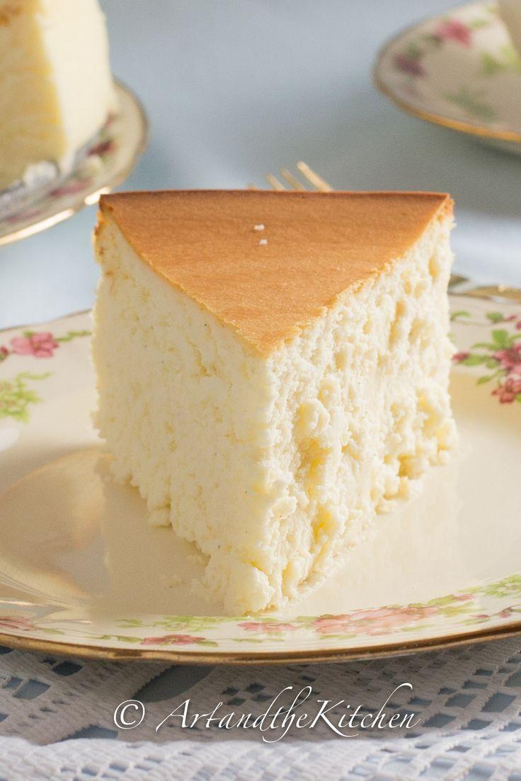 Tall and Creamy New York Cheesecake - this exceptional cheesecake recipe makes a tall and creamy, crustless New York Cheesecake.