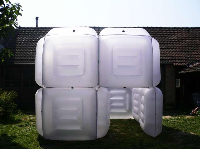 pneumocell inflatable building aufblasbares gebaude